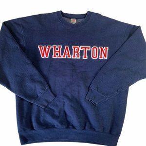 Vintage Wharton Crewneck Sweatshirt | Embroidered